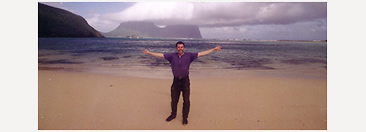 Self-portrait, on a subtropical island called Lord Howe, halfway between Australia and New Zealand.